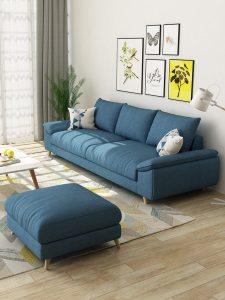 sofa băng màu xanh N061