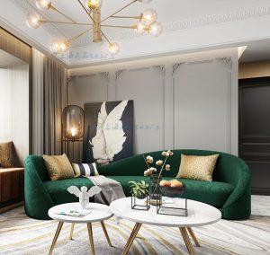 sofa băng vải đẹp N120