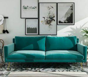sofa băng vải nhung hiện đại N5014