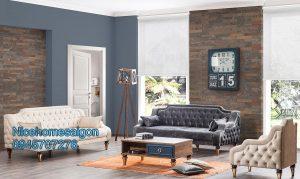 sofa cổ điển vải bố mã 32
