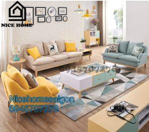 sofa vải cao cấp cho nhà lớn N087