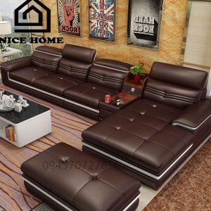 ghế sofa da phòng khách n8092