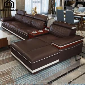 Ghế sofa da phòng khách NH045