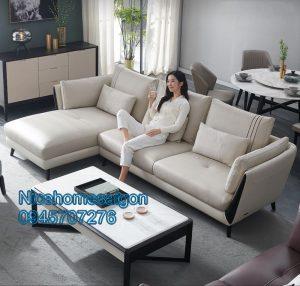 Sofa góc đẹp cho phòng khách NH030