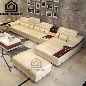 Sofa tay gỗ đẹp NH08